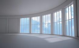 Grote venster binnenlandse mening Stock Afbeeldingen