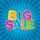 Grote Verkoop Blauwe Affiche Stock Afbeeldingen