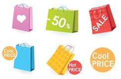 Grote verkoop! Het winkelen zakken. royalty-vrije illustratie