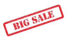 Grote verkoop rode zegel op achtergrond Stock Fotografie
