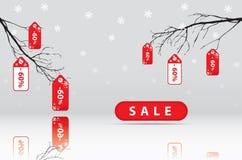 Grote verkoop, sticker en banners, bevorderingsachtergrond royalty-vrije stock foto's