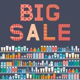 Grote verkoop van schoonheidsmiddelen Ontwerp een een reclamevlieger of banner Ve Royalty-vrije Stock Afbeelding
