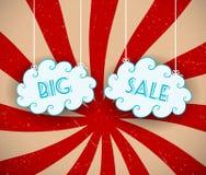 Grote verkoopachtergrond Stock Fotografie