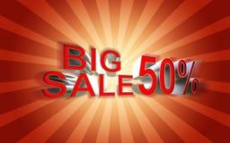 Grote verkoopaffiche Stock Fotografie