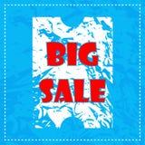 Grote verkoopaffiche Royalty-vrije Stock Foto