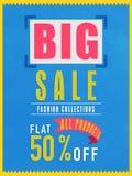 Grote verkoopvlieger, banner of affiche Stock Afbeeldingen