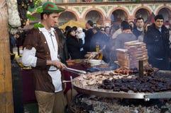 Grote verscheidenheid van geroosterd vlees voor verkoop stock fotografie