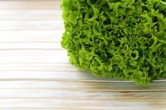 Grote verse organische groene sla Royalty-vrije Stock Fotografie