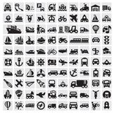 Grote vervoerspictogrammen Royalty-vrije Stock Fotografie