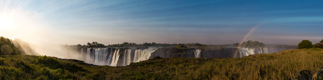 Grote Victoria Falls Zimbabwe royalty-vrije stock fotografie
