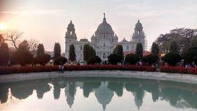 Grote Victoria Memorial van Kolkotta, India royalty-vrije stock foto