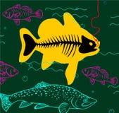 Grote vissen grote vangst vector illustratie