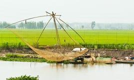 Grote visserijnetten van Vietnam. Royalty-vrije Stock Foto's