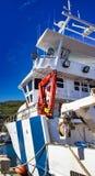 grote vissersboot voor het vangen van Ansjovissen stock fotografie