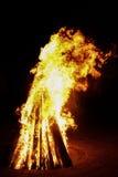 Grote vlammende brand Royalty-vrije Stock Foto