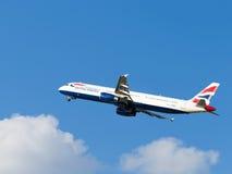 Grote vliegtuigenluchtbus A321-231 British Airways Stock Foto