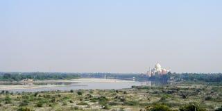 GROTE VLUCHT: Taj Mahal India Royalty-vrije Stock Afbeelding