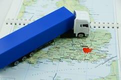 Grote vrachtwagen in het UK stock foto's