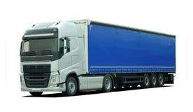 Grote vrachtwagen met semi aanhangwagen vector illustratie
