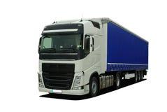 Grote vrachtwagen met semi aanhangwagen royalty-vrije stock afbeeldingen