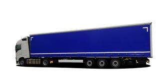 Grote vrachtwagen met semi aanhangwagen stock illustratie