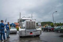 Grote vrachtwagen, peterbilt Royalty-vrije Stock Afbeeldingen