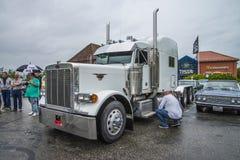 Grote vrachtwagen, peterbilt Stock Foto's