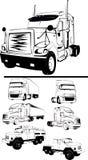 Grote vrachtwagenreeks Stock Afbeelding