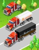 Grote Vrachtwagens Royalty-vrije Stock Afbeelding
