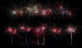 Grote Vuurwerkvertoning Royalty-vrije Stock Afbeeldingen