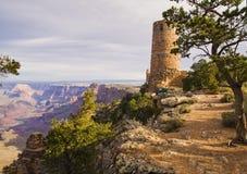 Grote Watchtower van de Mening van de Woestijn van de Canion Stock Afbeeldingen