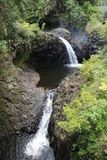 Grote waterval op Maui Stock Foto's