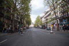 Grote Weg in Parijs Stock Afbeelding