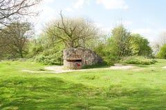 Grote wereldoorlog 1 Vlaanderen België van het bunkerpillendoosje stock afbeeldingen