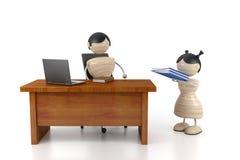 Grote werkgever vector illustratie
