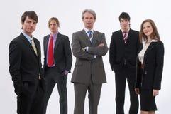 Grote werkgever en zijn team Stock Fotografie