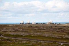 Grote wetenschappelijke antennes Royalty-vrije Stock Afbeeldingen