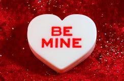 Grote witte valentijnskaart Stock Foto