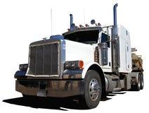 Grote Witte Vrachtwagen Stock Afbeeldingen
