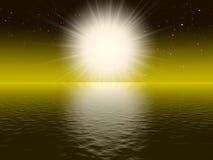 Grote witte zon Stock Illustratie