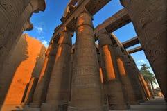 Grote Zaal Hypostle bij Tempel Karnak. Luxor, Egypte Stock Foto