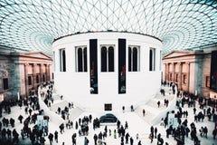 Grote zaal van British Museum royalty-vrije stock foto