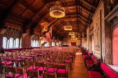 Grote zaal van het Wartburg-kasteel stock afbeeldingen