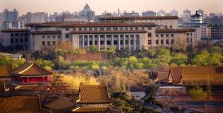 Grote Zaal Verboden Stad Peking China Stock Foto's