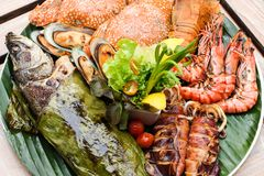 Grote zeevruchten Stock Foto