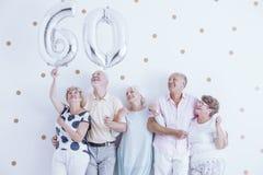 Grote zilveren ballons royalty-vrije stock afbeelding