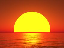 Grote zon Royalty-vrije Stock Fotografie