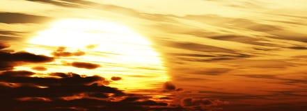 Grote zon in de hemel Stock Foto's
