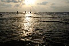Grote zonsondergang op zee Royalty-vrije Stock Fotografie