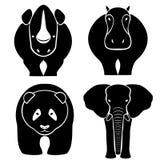 Grote zoogdieren - een vectorillustratie Stock Afbeeldingen